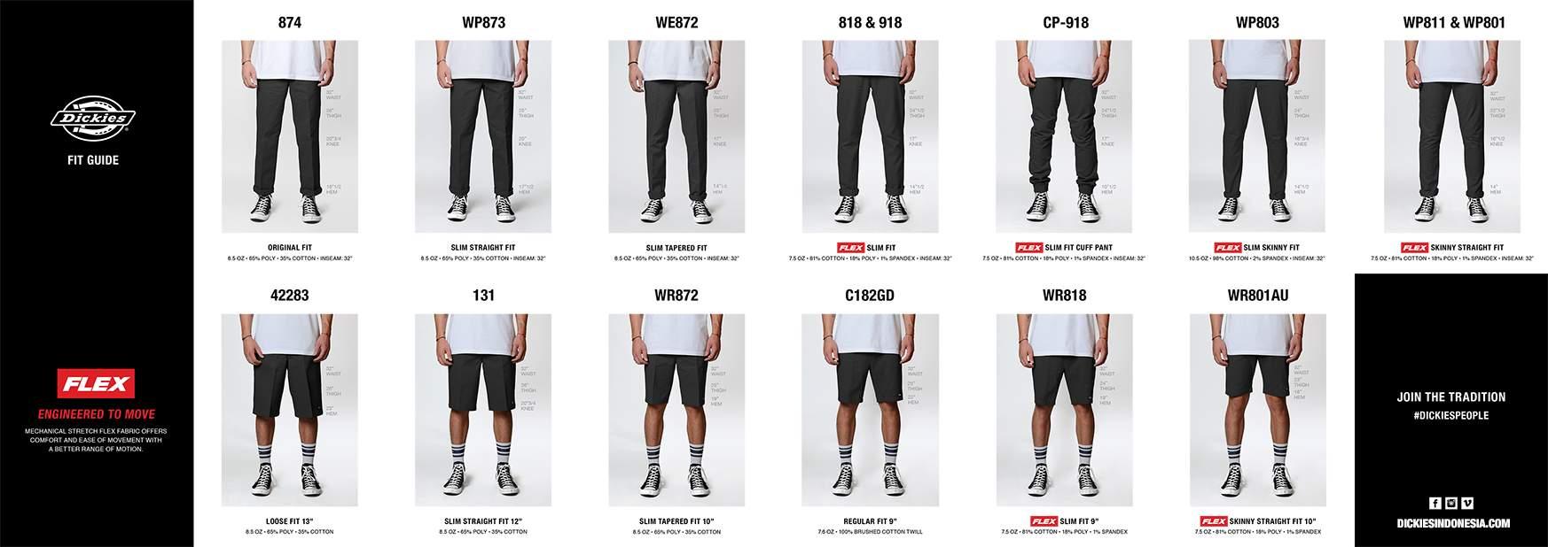 na wyprzedaży aliexpress styl mody Size Guide – Dickies Indonesia